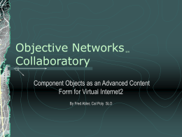 PowerPoint Presentation - Objective Networks (sm) Panel