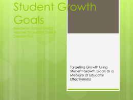 Student Growth Goals Pendleton School District Domain Five