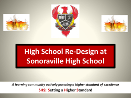 High School Re-Design at Sonoraville High School