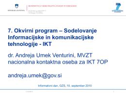 7. Okvirni program – Sodelovanje Informacijske in