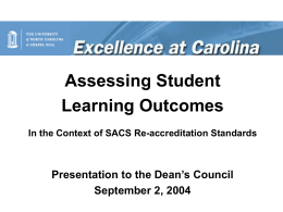 Assessing Student Learning Outcomes
