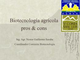 Biotecnologia agricola pros & cons