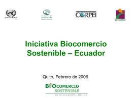 Iniciativa Biocomercio Sostenible 2005-2006
