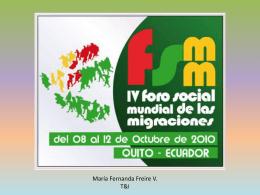 IV FORO SOCIAL MUNDIAL DE LAS MIGRACIONES
