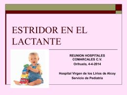 ESTRIDOR EN EL LACTANTE - Portal del Departament d'Alcoi