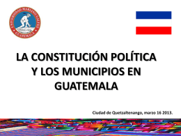 ASOCIACION NACIONAL DE MUNICIPALIDADES DE LA …