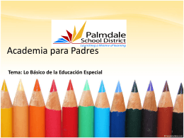 PRESENTATION NAME - Palmdale School District / …