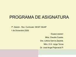 PROGRAMA DE ASIGNATURA