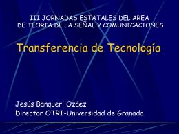 JORNADA DE TRANSFERENCIA DE TECNOLOGIA EN …