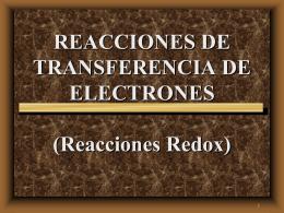 REACCIONES DE TRANSFERENCIA DE ELECTRONES …