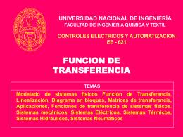 FUNCION DE TRANSFERENCIA