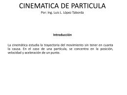 CINEMATICA DE PARTICULA