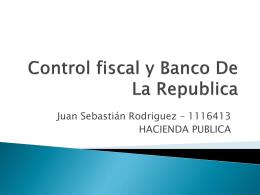 Control fiscal y Banco De La Republica