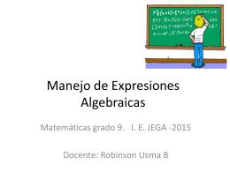 Manejo de Expresiones Algebraicas