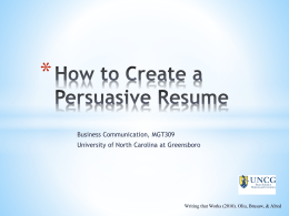 How to Create a Persuasive Resume