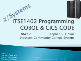 COBOL Unit 1 - Houston Community College