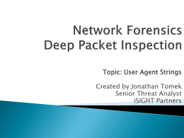 Network Forensics Deep Packet Inspection using NetWitness