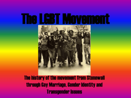 The LGBT Movement - Portland State University