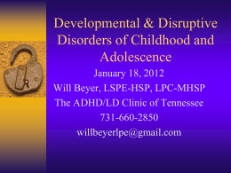 Developmental Problems of the Preschool Child