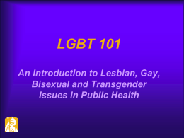 LGBT - Empire State Public Health Training Center