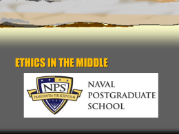 ETHICS AT THE PEAK - Naval Postgraduate School