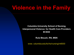 Introduction: Interpersonal Violence
