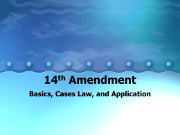 14th Amendment - Greeley Schools