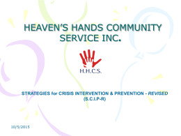 HEAVEN'S HANDS COMMUNITY SERVICE INC.