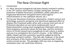 The New Christian Right - University of Southern Mississippi