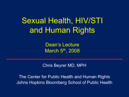 Sexual Health, HIV/STI and Human Rights