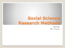 Social Science Research Methods