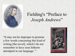 "Fielding's ""Preface to Joseph Andrews"""