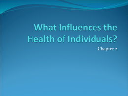 What Influences the Health of Individuals? - AISS-HPE-HF