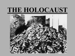 THE HOLOCAUST - Jenks Public Schools