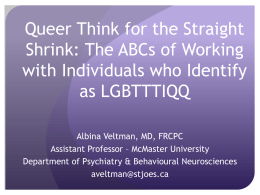 Queer Think for the Straight Shrink: Providing Mental