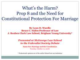 Constitutional protection for marrige