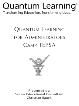 Quantum Learning for Teachers