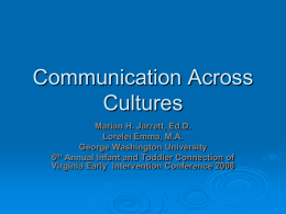 Communication Across Cultures