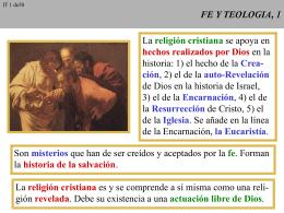 FE Y TEOLOGIA, 1 - Vida espiritual