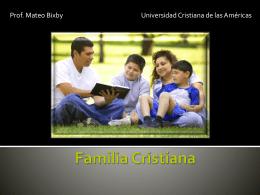 Familia Cristiana - Lic. Mateo Bixby