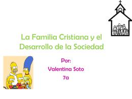 La Familia Cristiana y el Desarrollo de la Sociedad