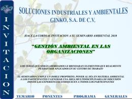 SEMINARIO AMBIENTAL 2009