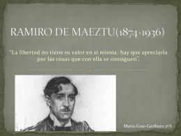 RAMIRO DE MAEZTU(1874