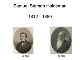 Samuel Steman Haldeman 1812