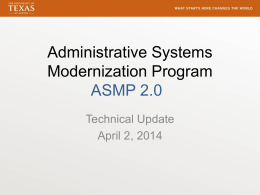 Administrative System Modernization Program
