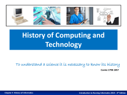 History of Computing and Technology