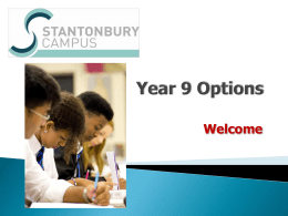 Stantonbury Campus Year 9 Options
