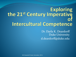 The identification and assessment of intercultural