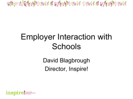 Employer Interaction with Schools