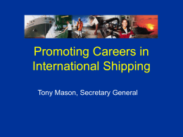 Careers in international merchant shipping